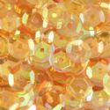 Sequins, orange, Diameter 6mm, 810 pieces, 10g, Faceted Discs, Sequins are shiny, [CZP227]